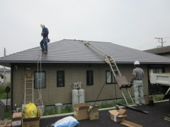 太陽光施工中