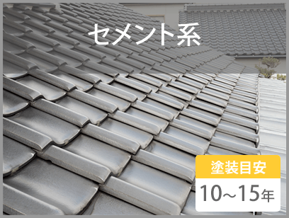 セメント系 塗装目安10~15年
