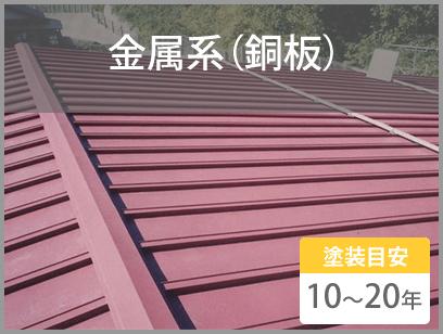 金属系(銅板) 塗装目安10~20年