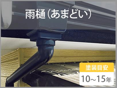 雨樋(あまどい)塗装目安10~15年